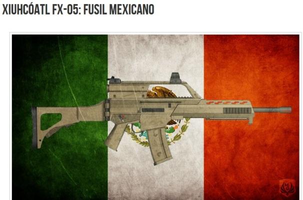 FUSIL MEXICAZTECA