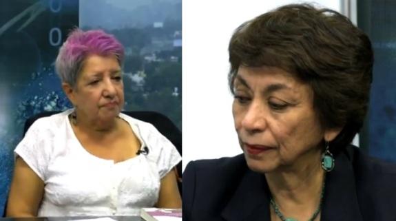 Lourdes Uranga y Rosa Albina Garavito