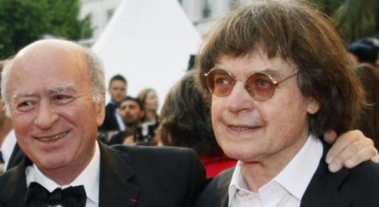 Los dibujantes franceses Georges Wolinski (a la izquierda) y Cabu (a la derecha), en Cannes, en 2008. Ambos asesinados