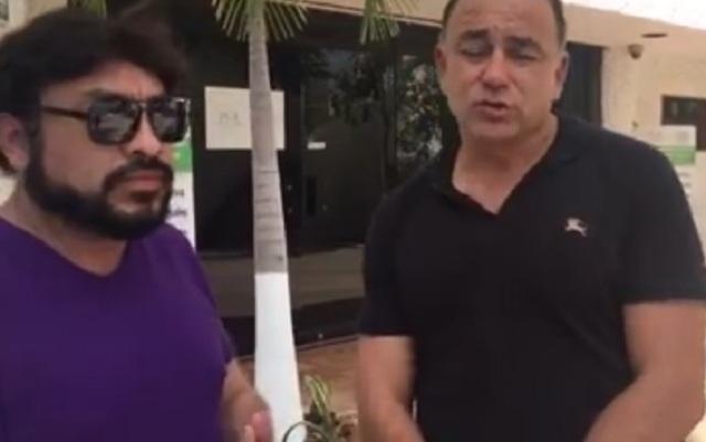 CARLOS MIMENZA Y PEDRO CANCHE empresario y periodista.