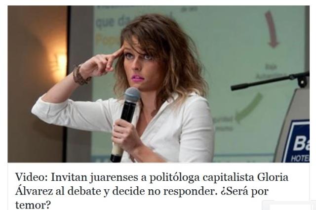 GLORIA ALVAREZ.
