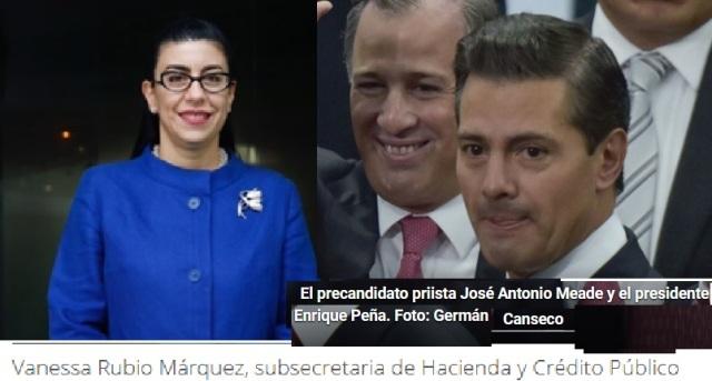 PEÑA MEADE Y VANESA RUBIO MARQUEZ