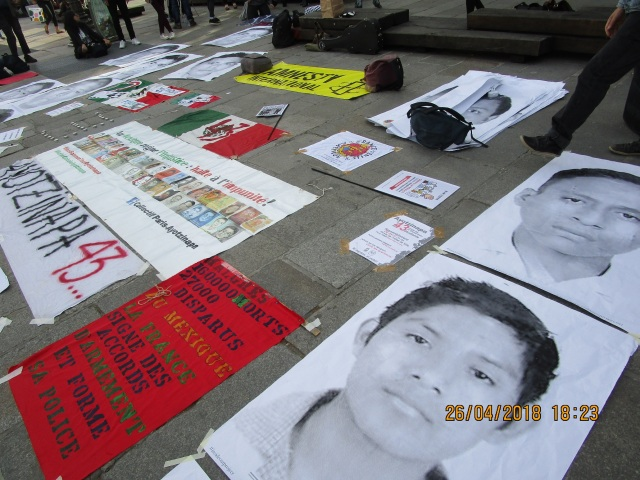 manif paris ayotzinapa abril 2018 b