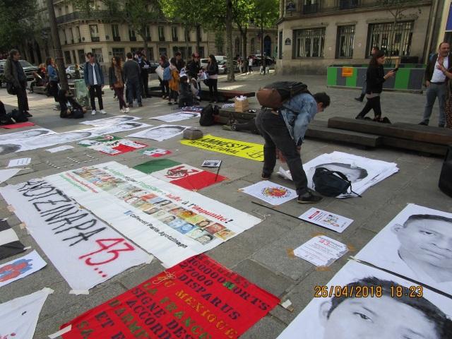 manif paris ayotzinapa abril 2018
