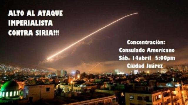 PROTESTAS CONTRA BOMBARDEO EN SIRIA