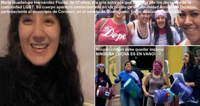 ACTIVISTA ASESINADA... MEX MA GPE HDZ FLORES