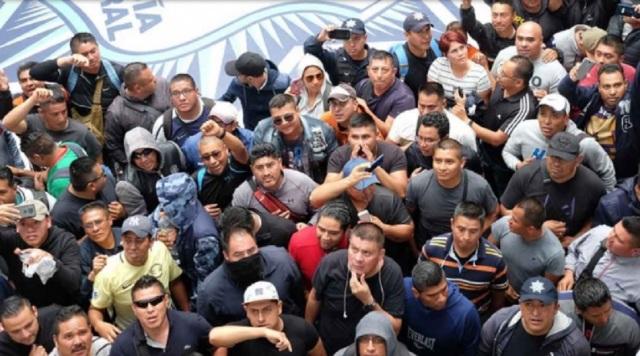 PROTESTA POLICIA FEDERAL.
