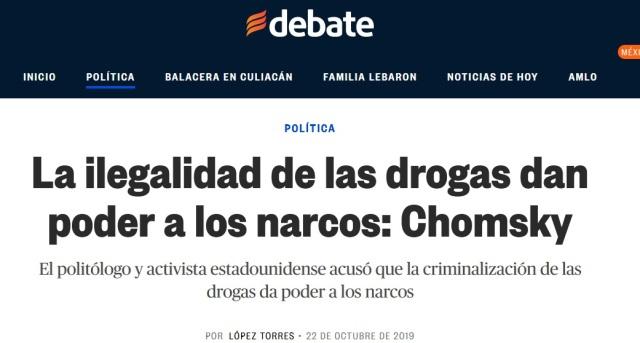 CHOMSKY Y LAS DROGAS.