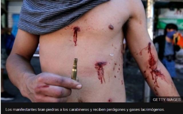 JOVENES EN CHILE RESPUESTA POLICIA MILITARISMO