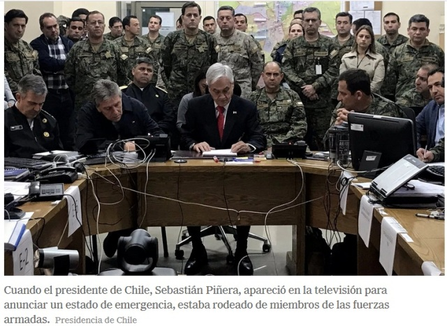 PIÑIEIRA CHILE MILITARES.