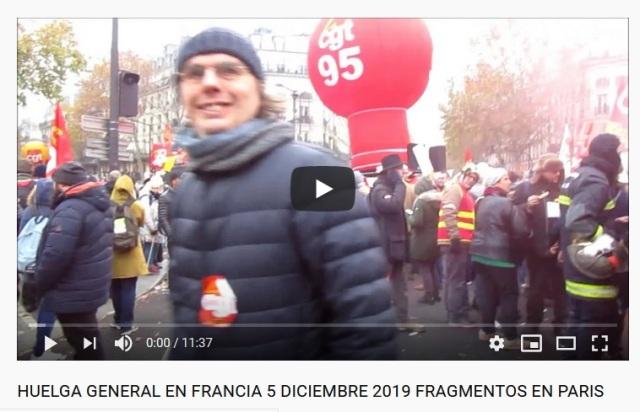 VIDEO HUELGA PARIS